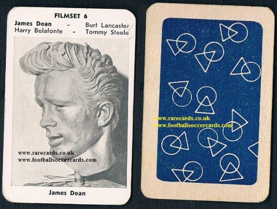 1950s Maple Leaf Filmset 6 James Dean card